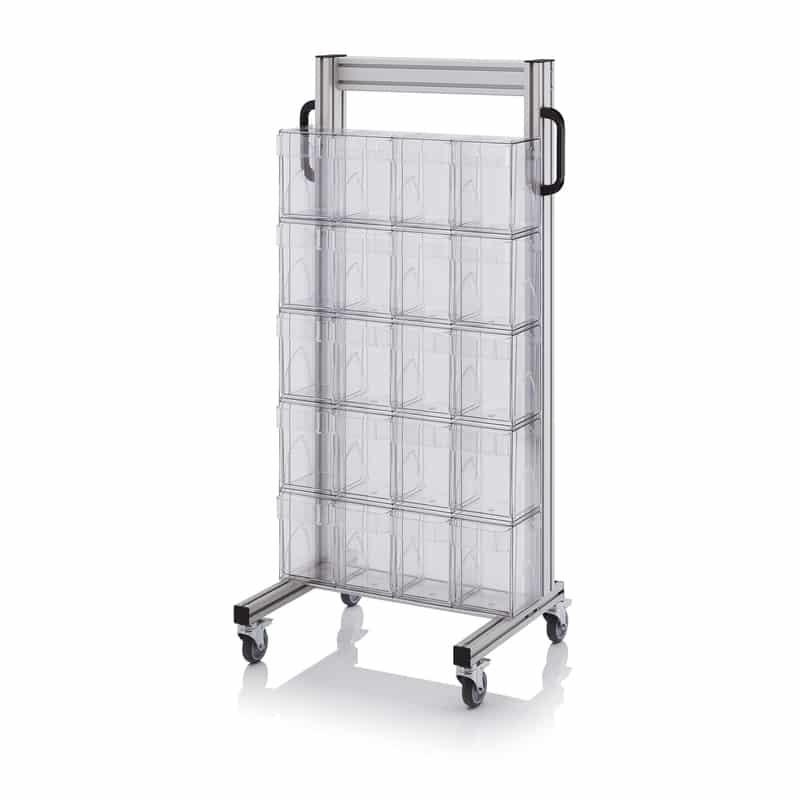 Systemwagen für Kippkästen 69 x 45 x 134 cm AUER packaging