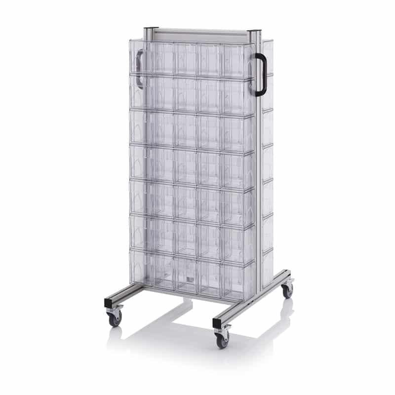 Systemwagen für Kippkästen 69 x 68 x 134 cm AUER packaging