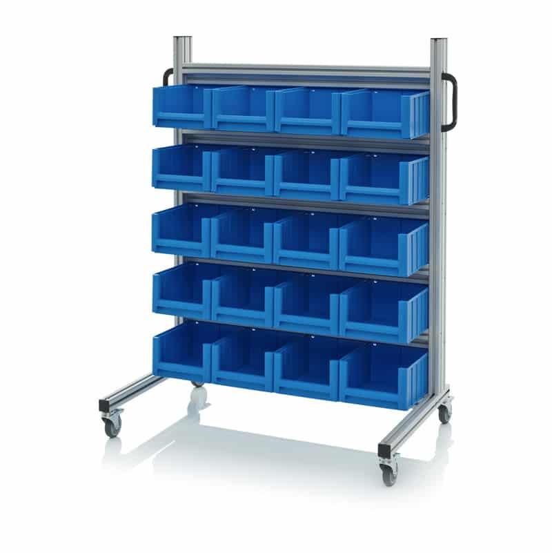 Systemwagen für Regalkästen 112 x 65 x 135 cm AUER packaging