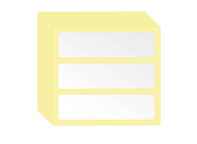 10 Bögen à 3 Rack Schublade Klebeetiketten 6 x 1,6 cm AUER packaging